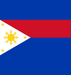 flag of republic of philippines in wartime vector image vector image