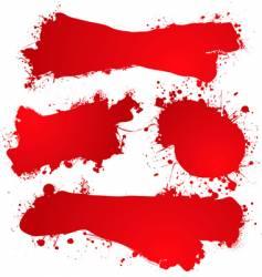 ink splat blood vector image