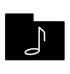 music folder silhouette icon pictogram vector image vector image