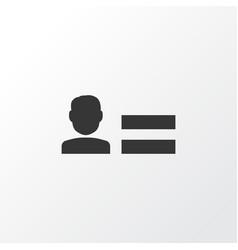 personal data icon symbol premium quality vector image