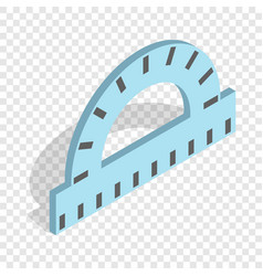 ruler for drawing isometric icon vector image
