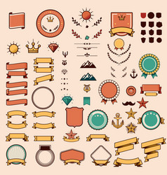 Set of the design elements vector image vector image