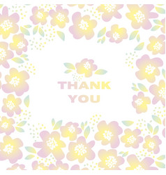 yellow sunny color floral in retro 60s style vector image vector image