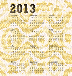 2013 calendar albino snake skin vector