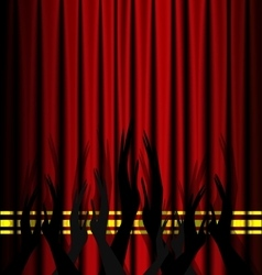 Abstract theatre applouse vector