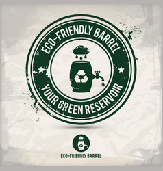 Alternative eco barrel stamp vector