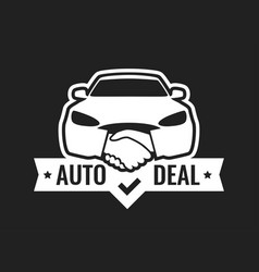 auto deal - logo for car dealership isolated on vector image