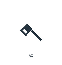Ax icon simple gardening element symbol design vector