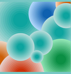 Background color geometric balls vector image