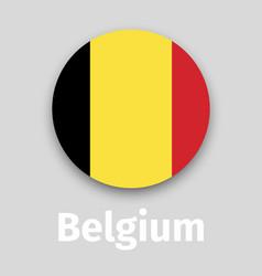 belgium flag round icon vector image