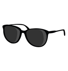 black glasses on white background vector image