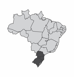 Brazil south region vector