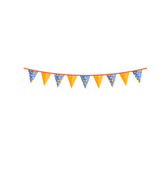 Bright party bunting pennant flags garland design vector