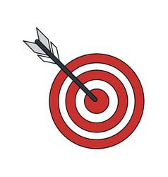 Bullseye or dart board icon image vector