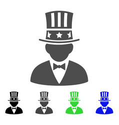 capitalist flat icon vector image