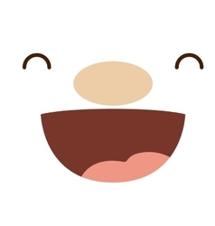 Cartoon face with expression design vector image