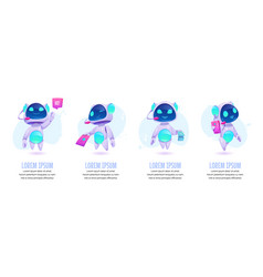 chat bot banners set future marketing innovation vector image