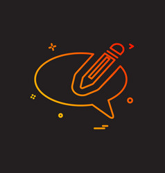 chat pencil talk icon design vector image