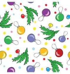 Christmas decorations balls seamless pattern vector image vector image