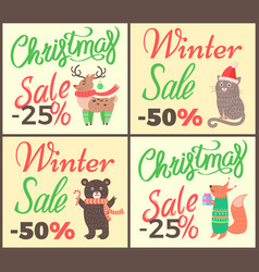 christmas sale -25 collection vector image