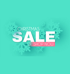 christmas sale season offer banner with vector image