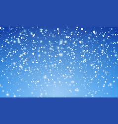 Christmas snow falling snowflakes on blue vector