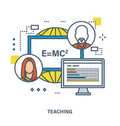 Concept of training teaching and tutoring vector
