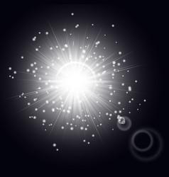 Cosmic light effect vector