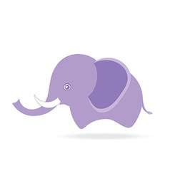 cute male elephant cartoon drawing thailand vector image