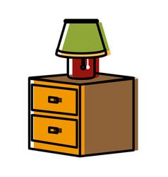 Desk light lamp vector