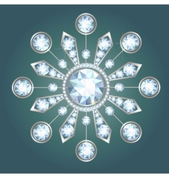 Diamond brooch vector image