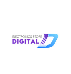 digital electronic store sign vector image