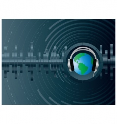 dj globe background vector image