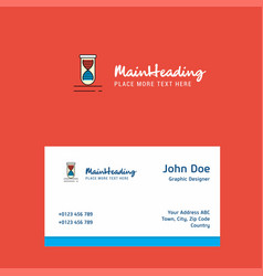 dna logo design with business card template vector image