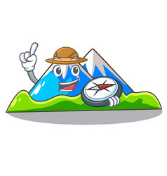 Explorer mountain scenery isolated from the mascot vector