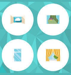 Flat icon frame set of glass frame clean cloud vector