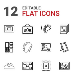 gallery icons vector image