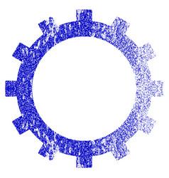 Gear grunge textured icon vector