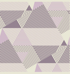 Geometric striped pattern in dust rosy colors vector