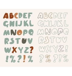 Hand-drawn alphabet vector image vector image