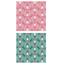 Heart shape patterns in mute nostalgic colors vector