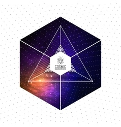 Hipster triangular colorful cosmic background with vector