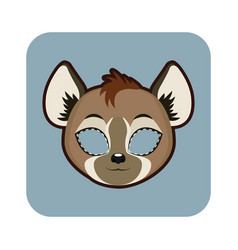 hyena mask for various festivities parties vector image