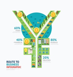 Infographic business money yen shape template vector image