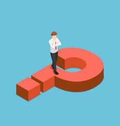 isometric businessman thinking while walking vector image