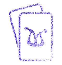 joker gambling cards icon grunge watermark vector image