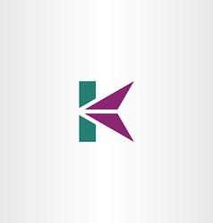 letter k logo icon k logotype sign vector image
