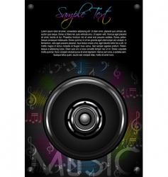 Loud speaker and music notes vector