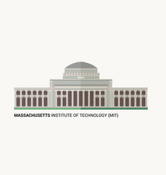 massachusetts institute of technology vector image