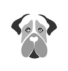 Mastiff dog icon vector